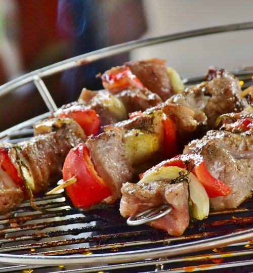 meat, meat skewer, barbecue
